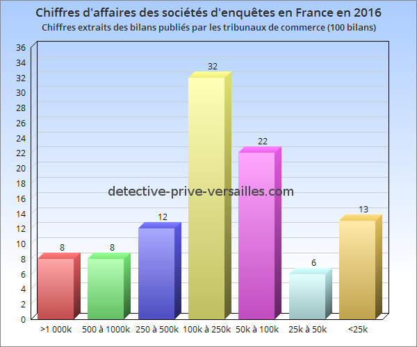Chiffres affaires societe enquetes 2016 france